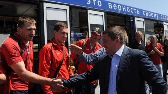 В Волгограде белая полоса (2 фото + видео)
