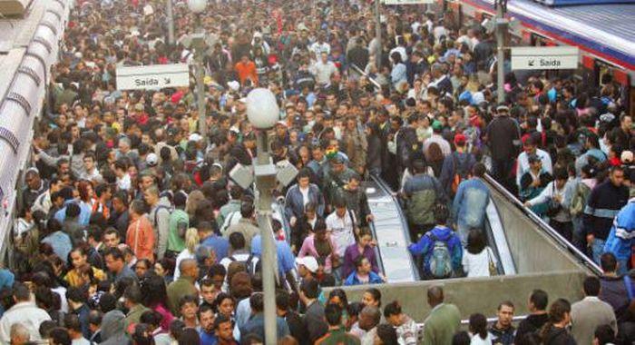 Обычный день в метро Сан-Паулу (12 фото)