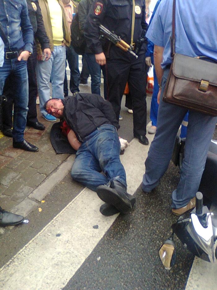 Убийство на Покровке и погоня за подозреваемым (5 фото)