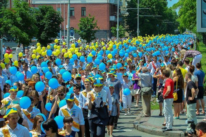Школьный выпускной в Днепропетровске (29 фото)
