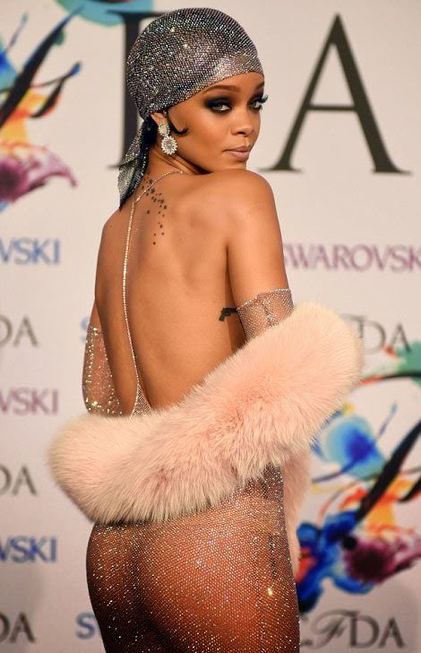 Рианна в прозрачном платье на премии CFDA 2014 (11 фото)