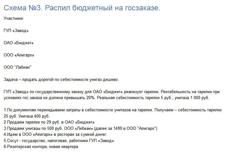 Схемы откатов за предоставление услуг (5 фото)