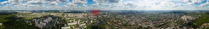Панорама Москвы гигантских размеров (2 фото)