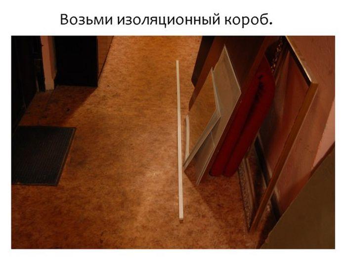 Креативное решение проблемы с проводами от наушников (4 фото)
