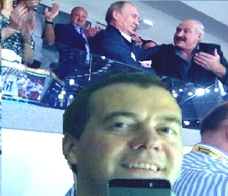 Прикольные фотожабы на селфи Медведева (43 фото)