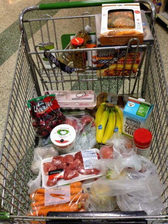 Недельная продуктовая корзинка в Америке (3 фото)