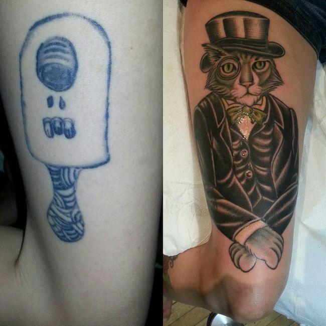 Переделанные татуировки (33 фото)