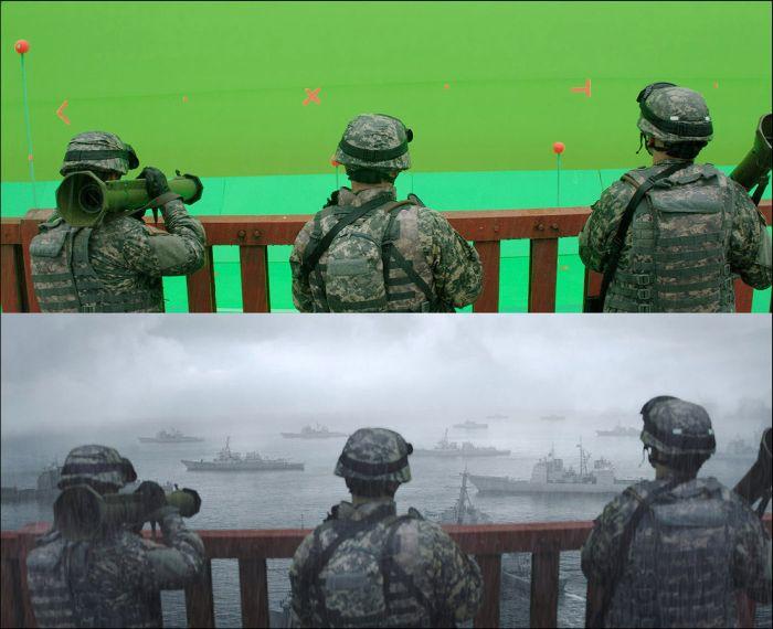 Как снимают визуальные эффекты в кино (37 фото)
