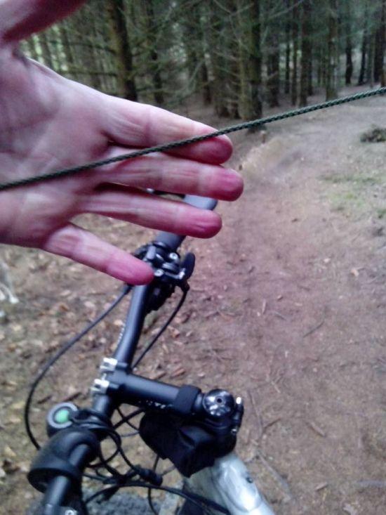 """""""Ловушка"""" для велосипедистов на горной дороге (4 фото)"""