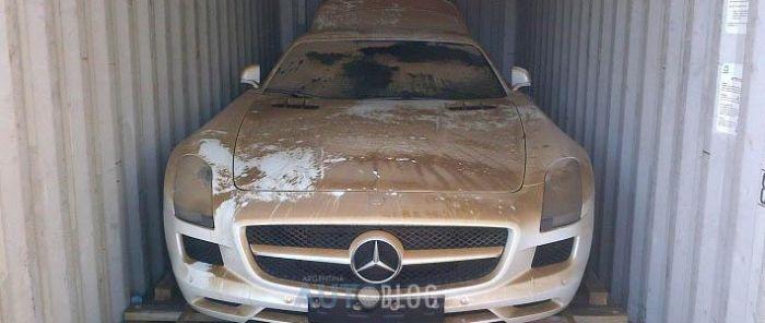 Суперкар Mercedes SLS AMG, который побывал на дне океана (8 фото)