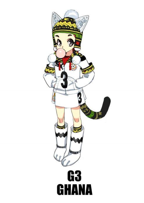 Изображение сборных ЧМ по футболу в анимэ стиле (32 картинки)