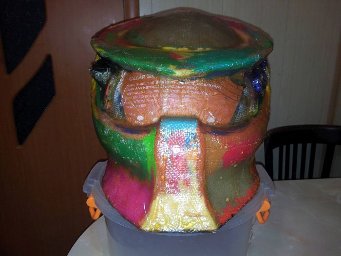 Делаем крутой шлем Хищника своими руками (49 фото)