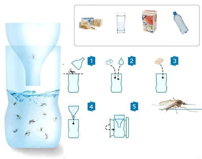 Как сделать своими руками ловушку для комаров