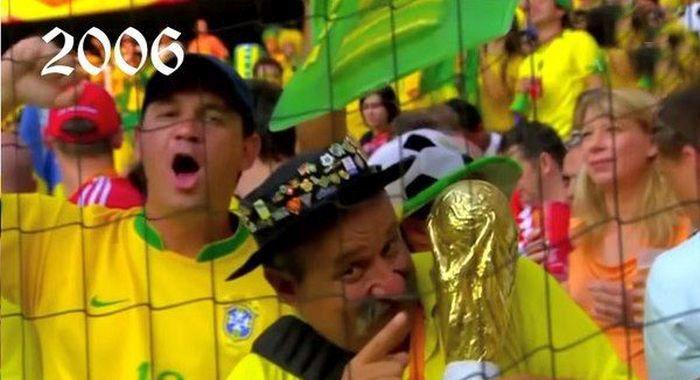 Самый грустный болельщик бразильской сборной (3 фото + видео)