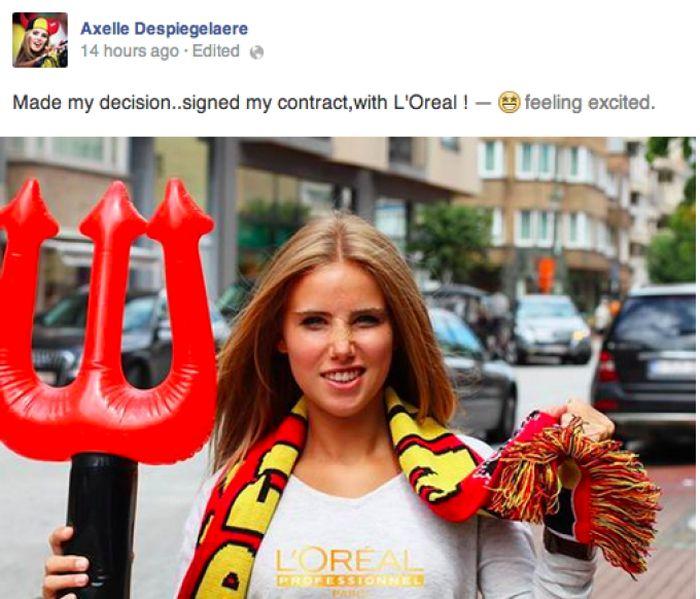 Болельщица футбола получила модельный контракт (20 фото)