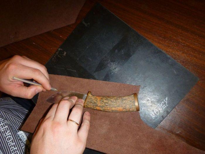 Как и из чего сделать ножны для ножа своими руками 46