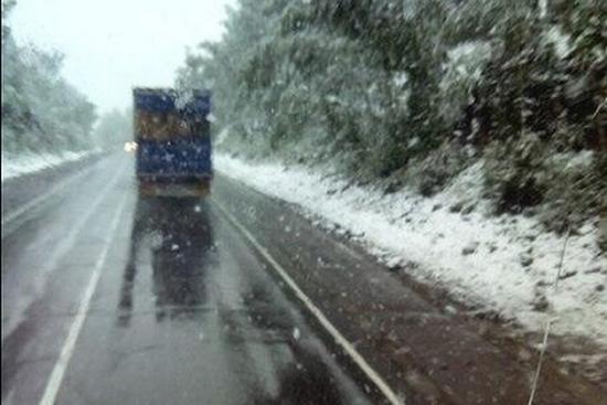 В Челябинской области выпал снег