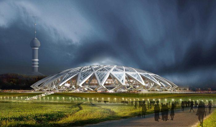 Подготовка стадионов к чемпионату мира по футболу 2018 в России (12 фото)