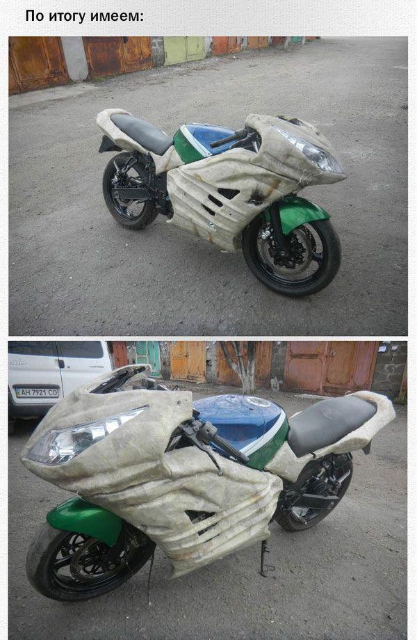 Обвес для мотоцикла своими руками (40 фото)