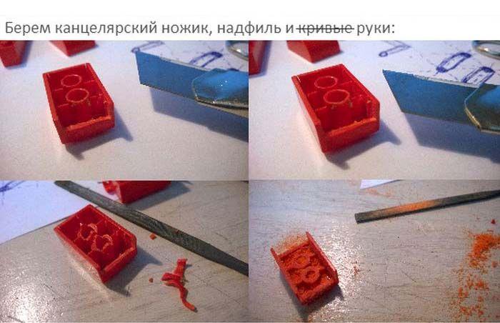 USB-флешка из LEGO своими руками (9 фото)