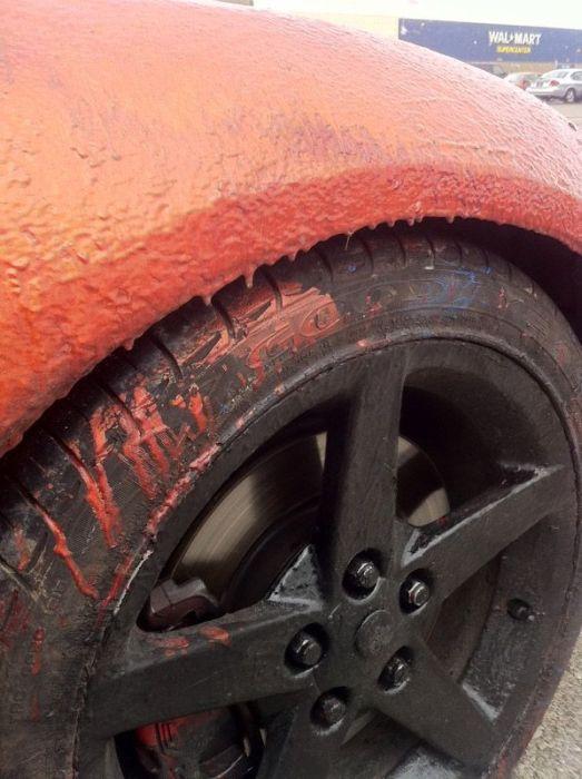 Chevrolet Corvette достался жене после развода (6 фото)