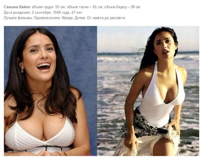 Самые сексуальные девушки Голливуда с внушительным размером груди (10 фото)