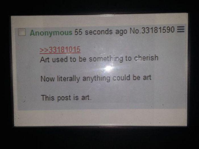 Сколько стоит обрамлённый пост с популярного имиджборда? (2 фото)