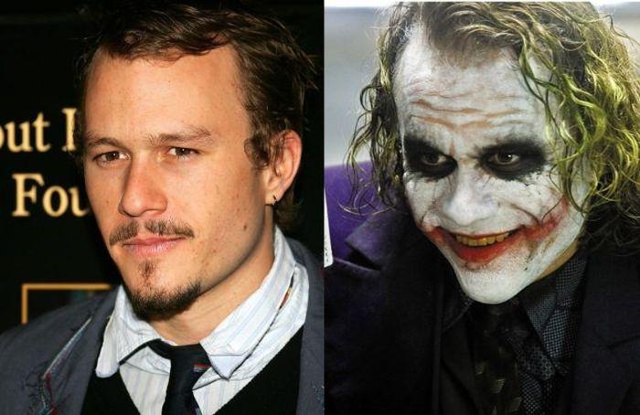 Известные актеры, загримированные до неузнаваемости (16 фото)