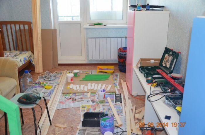 Строим детский игровой домик в квартире своими руками (17 фото)
