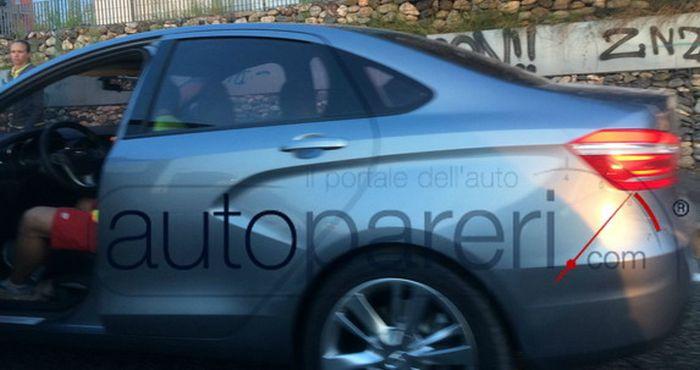 Шпионские фото новой Lada Vesta (7 фото)