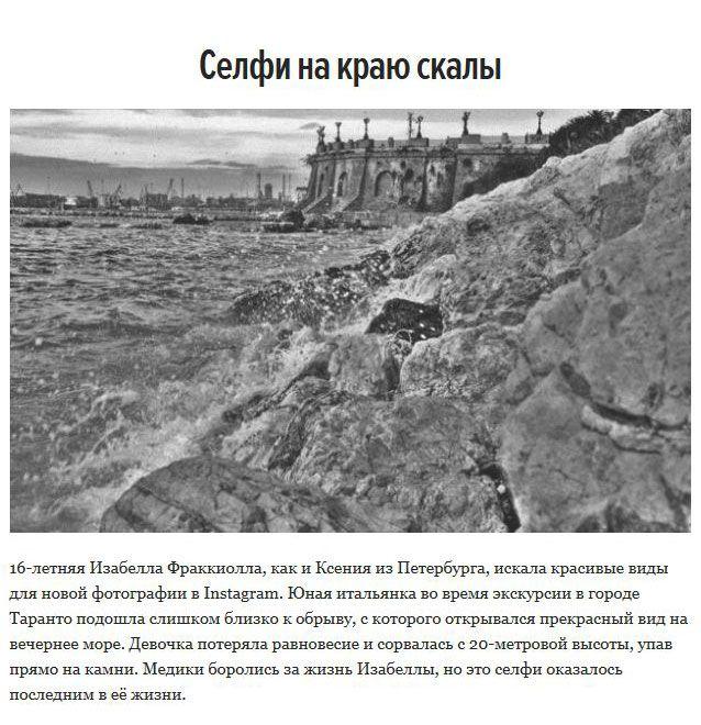 Опасные селфи, которые привели к гибели (8 фото)