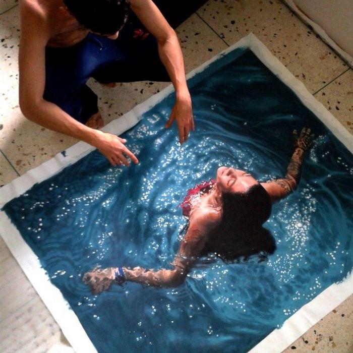 Невероятная детализация гиперреалистичных картин (14 фото)