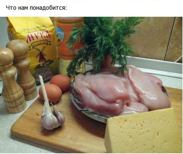 Готовим куриные рулетики с сыром и чесноком своими руками (32 фото)