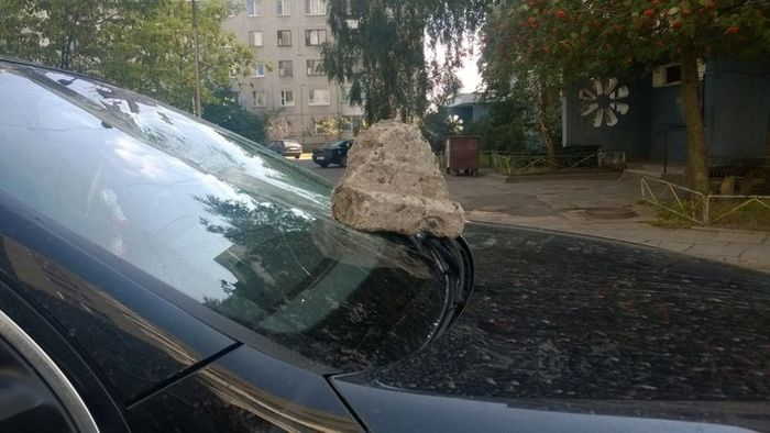 """""""Народный штраф"""" за парковку в неположенном месте (3 фото)"""