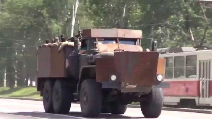 Самодельные украинские броневики, собранные из металлолома (20 фото)