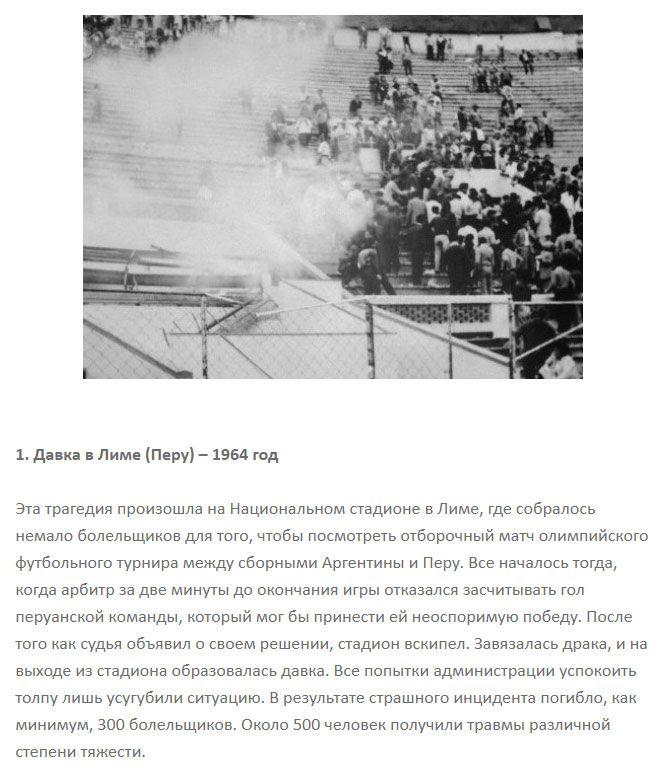 Трагические случаи массовой давки и паники (10 фото)