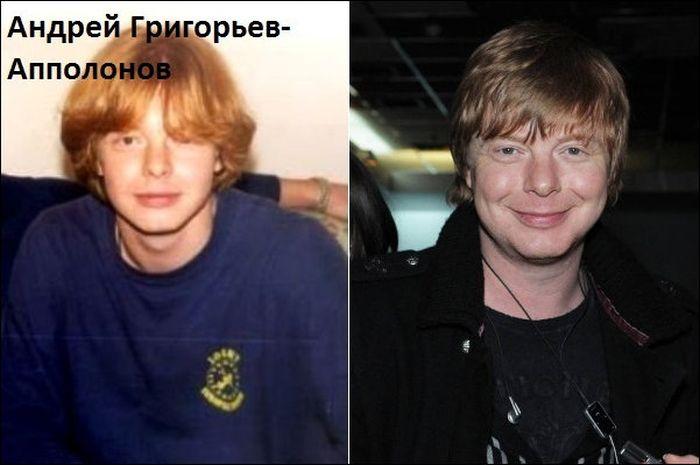 """Известные российские поп-исполнители """"тогда и сейчас"""" (10 фото)"""
