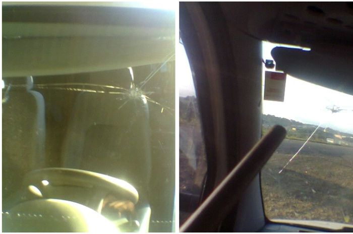 Самый везучий водитель дня (6 фото)