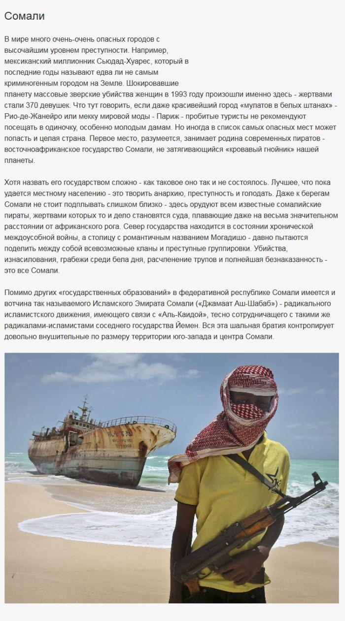 Самые опасные для путешественников страны мира (5 фото)