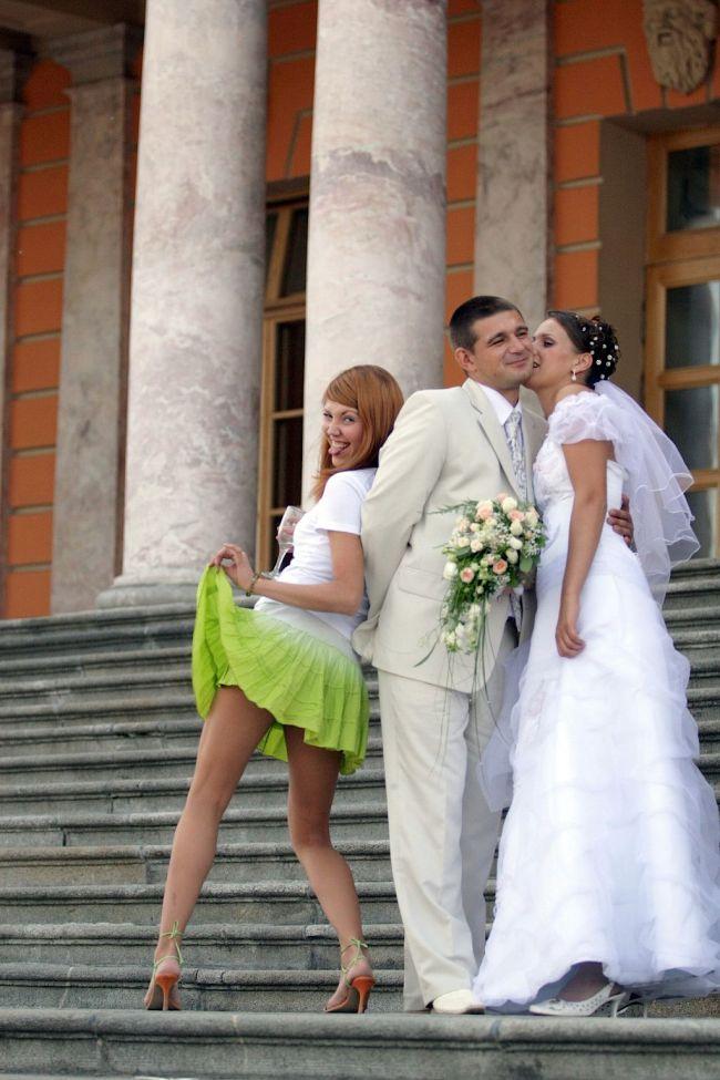 пьяная невеста со свидетелем