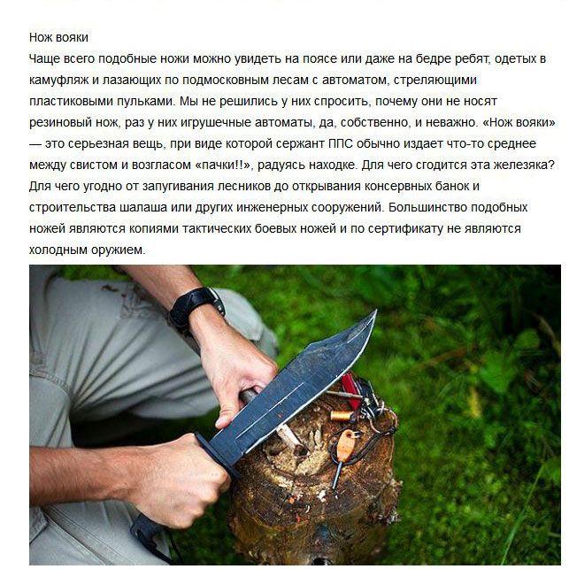 Факты о ножах на все случаи жизни (7 фото)