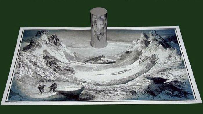 Удивительная техника рисования картины со скрытым смыслом (2 фото)