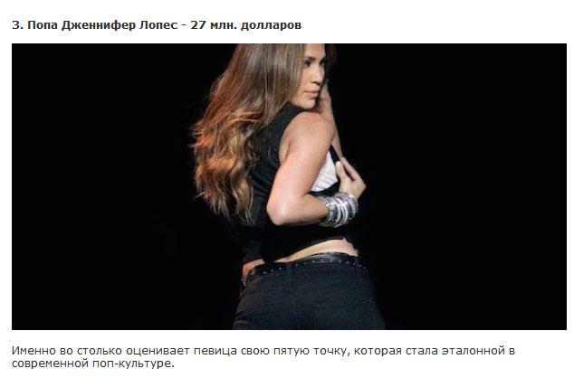 Суммы, в которые знаменитости оценивают свои части тела (10 фото)