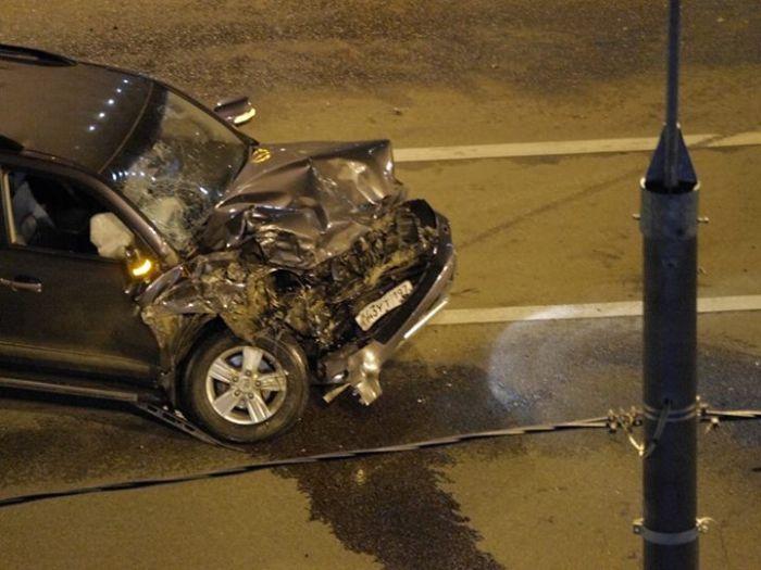 Серьезные последствия аварии в районе Ходынского поля (5 фото)
