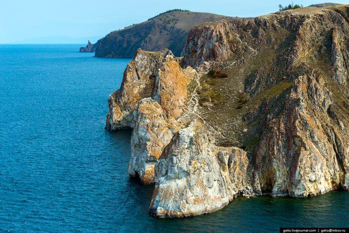 Озеро Байкал с высоты птичьего полета (61 фото)