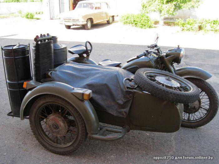 Самодельный мотоцикл, работающий на дровах (6 фото + видео)