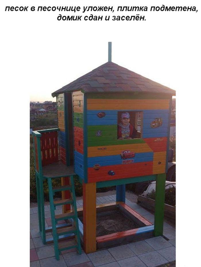 Строим игровой домик для ребенка своими руками (20 фото)