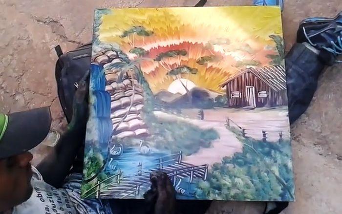 Удивительный талант уличного художника (5 гифок)