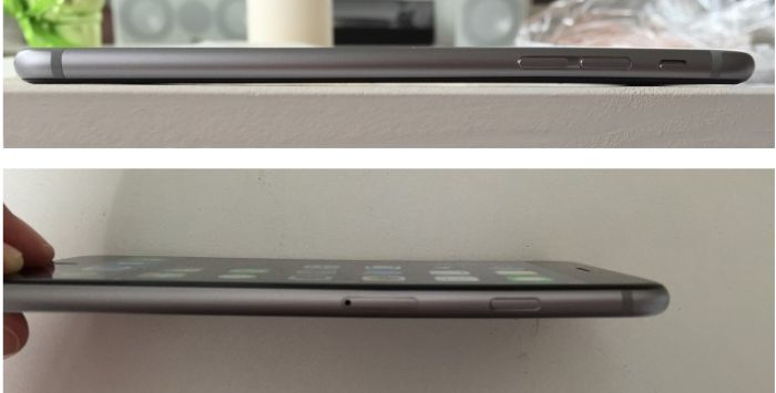 Непрочный корпус новенького IPhone 6 (3 фото)