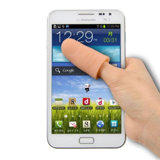 Решение проблемы коротких пальцев и больших экранов по-японски (7 фото)